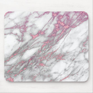 Pink Marble Mouse Pad