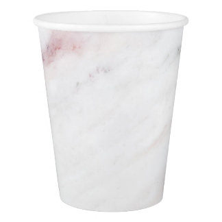 Pink Marble Paper Cup