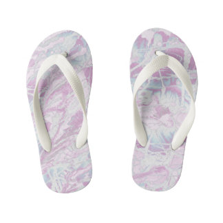 Pink Marble Pattern Kids Flip-Flop Kid's Thongs