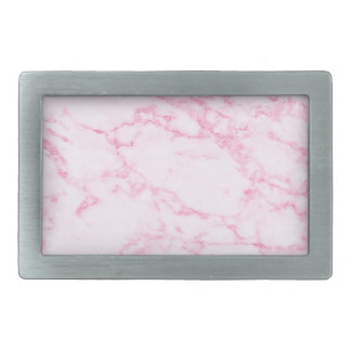 Pink  Marble Rectangular Belt Buckle
