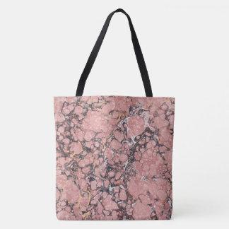 Pink Marble Tote Bag