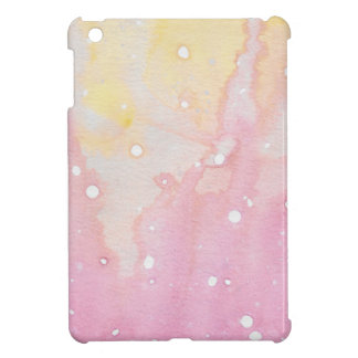 Pink Marble Watercolour Splat Cover For The iPad Mini