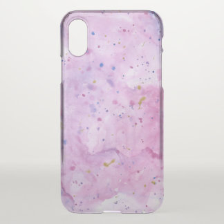 Pink Marble Watercolour Splat iPhone X Case