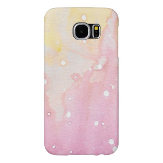 Pink Marble Watercolour Splat Samsung Galaxy S6 Cases