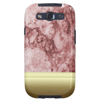 Pink Marble with golden stripes Samsung Galaxy S3 Cover