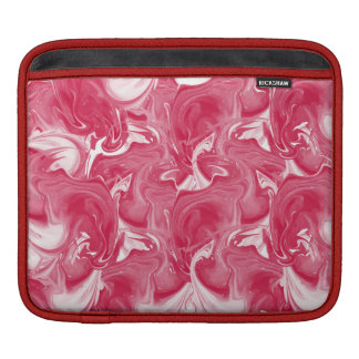 Pink marbled texture, rich ebru technique iPad sleeve