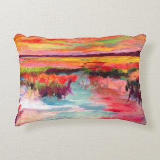 Pink Marsh Scene Decorative Cushion