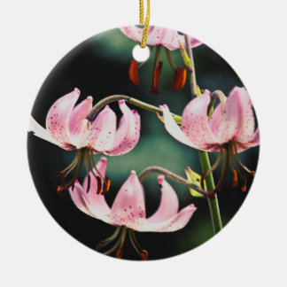 Pink Martagon Lily Flowers Ornaments