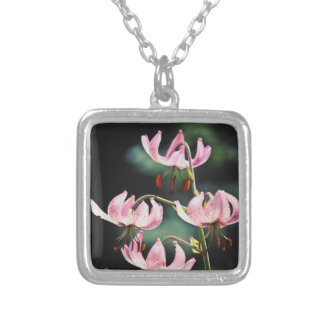 Pink Martagon Lily Flowers Necklaces