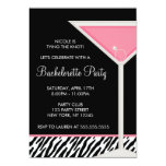 Pink Martini and Diamond Ring Bachelorette Party 13 Cm X 18 Cm Invitation Card