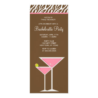 Pink Martini Bachelorette Party Card