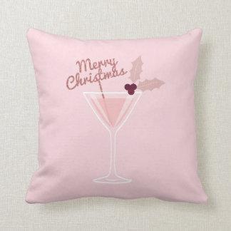 Pink Martini Christmas Cushion