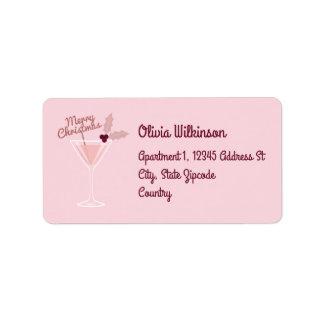 Pink Martini Christmas Label