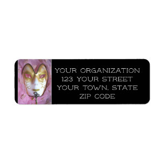 Pink Masque Return Address Label