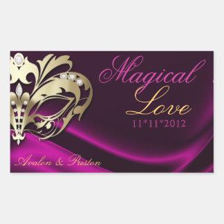 Pink Masquerade Gold Candy Buffet Sticker