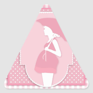 pink maternity triangle sticker
