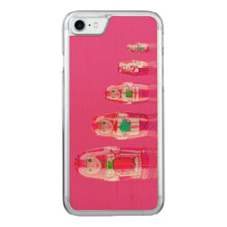 Pink Matryoshka Russian Dolls iPhone 6 Slim Carved iPhone 7 Case