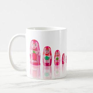 Pink Matryoshka Russian Dolls Mug
