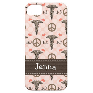 Pink MD Doctor Caduceus iPhone 5 Cases
