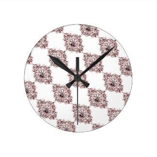 Pink Medallion Wall Clock