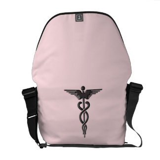 Pink Medical Caduceus Commuter Bag
