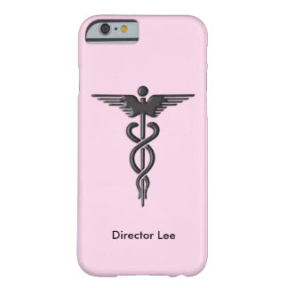 Pink Medical Caduceus Personal Barely There iPhone 6 Case
