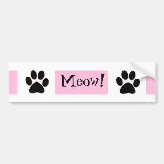 Pink Meow Bumper Sticker