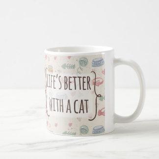 pink meow coffee mug