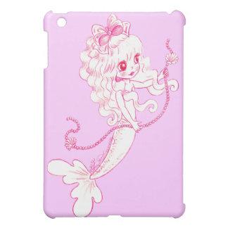 Pink Mermaid Holding String Of Pearls iPad Mini Covers