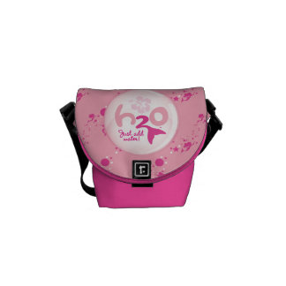 Pink Mermaid Pattern Messenger Bags