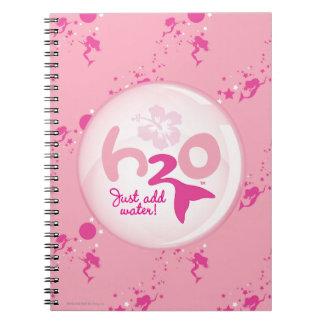 Pink Mermaid Pattern Spiral Notebook