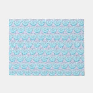 Pink Mermaid scales ,boho,hippie,bohemian Doormat