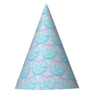 Pink Mermaid scales ,boho,hippie,bohemian Party Hat