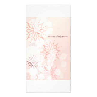 Pink Merry Christmas Photo Card