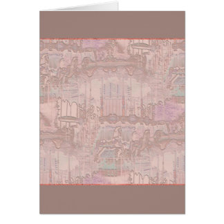 Pink Merry-Go-Round Horses Card