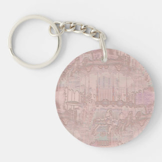 Pink Merry-Go-Round Horses Key Ring