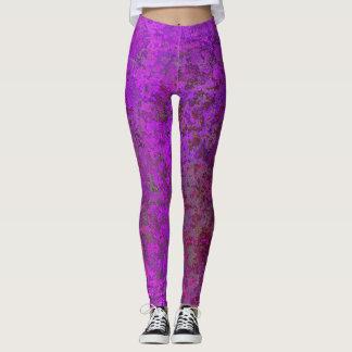 Pink metal leggings
