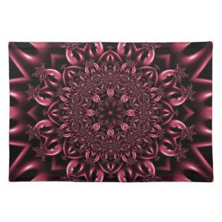Pink metalwork place mat
