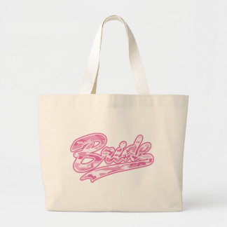Pink Military Bride Camouflage Jumbo Tote Bag