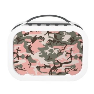 Pink Military Camouflage Lunchbox
