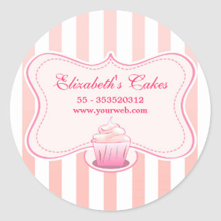pink milky cupcake stickers