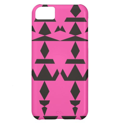 Pink Minimal Tribal Cover For iPhone 5C