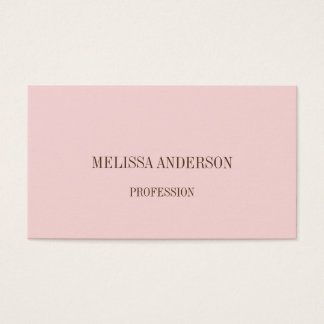 Pink minimalist professional business card