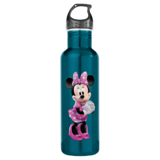 Pink Minnie | Hands Together 710 Ml Water Bottle