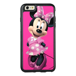 Pink Minnie | Head Outline in Background OtterBox iPhone 6/6s Plus Case