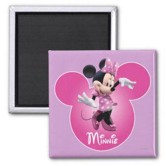 Pink Minnie   Mickey Head Icon Magnet
