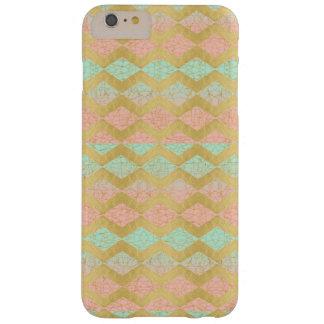 Pink Mint & Gold Chevron Stripe iPhone Case