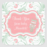 Pink Mint Green Floral Sip N See Baby Shower