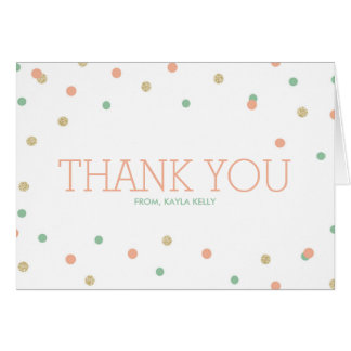 Pink & Mint Thank You Cards