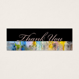 Pink Mist Champagne Thank You Wedding Gift Tags Mini Business Card